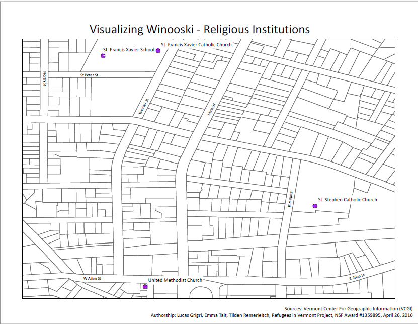 Winooski Religious Institutions